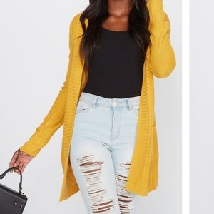 BRAND NEW WITH TAGS mustard cardigan